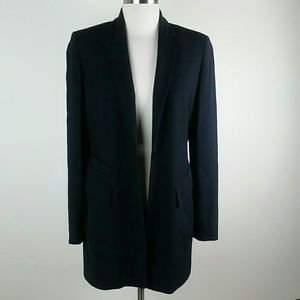 Anne Klein Wool blend long black blazer size 0